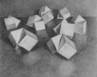 Abstract Wall Art - Greyscale Geometric
