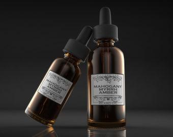Mahogany Myrrh Amber,  beard oil, tonic, all natural