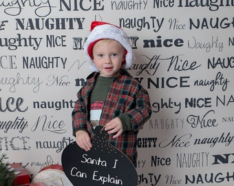 Naughty or Nice Photography Backdrop (HDY-VS-008)