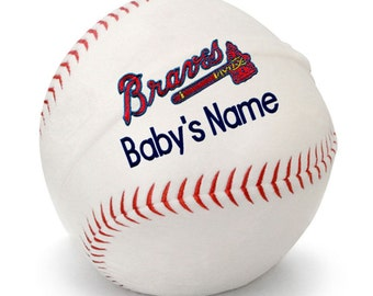 Personalized Baby Atlanta Braves Baby Plush Baseball