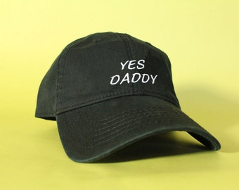 NEW YES DADDY Baseball Hat Dad Hat Low Profile White Pink Black Casquette Embroidered Unisex Adjustable Strap Back Baseball Cap