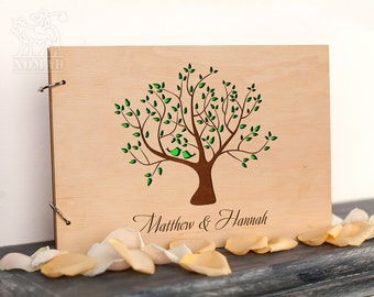Unique Personalized Wedding Guest Book, Rustic Custom guest book, Tree guest book, wood guest book, wedding guestbook, Bridal Shower Gift