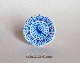 Miniature Fajalauza Plate, Plato en miniatura Fajalauza