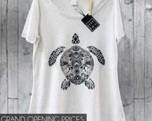 Turtle, Turtle T Shirt, Zentangle Shirt, Designer Shirt, Sea Turtle, Turtles, Boho, T Shirts, Zentangle Art, Turtle Tee, Sea Turtle Shirt,