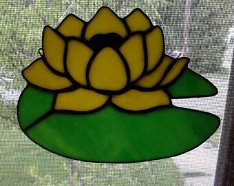 Yellow lily pad