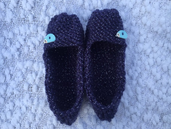 Sparkly Hedgehog Knitting Pattern : Items similar to Hedgehog Slippers, Knitted Slippers ...