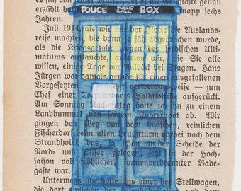 We're all Stories in the end - 11th Doctor Matt Smith Tardis Blue Box