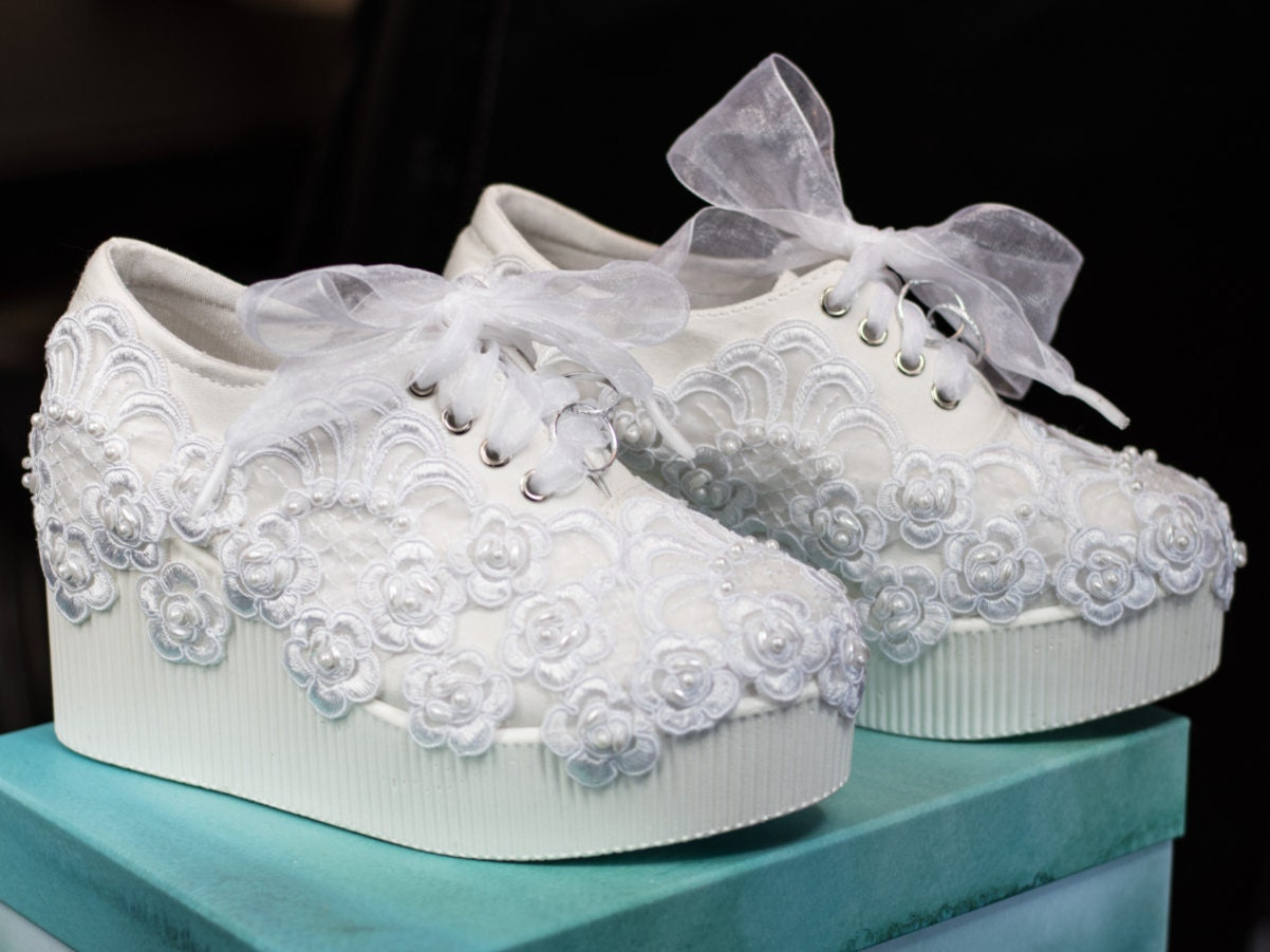 wedding shoes size 6 8 last ones in this lace platform