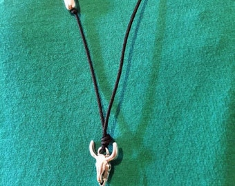 Bull Skull Necklace, Men's Necklace, Men's Jewelry, Made in Greece by Christina Christi Jewels.