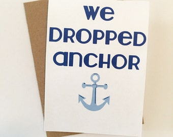 We Dropped Anchor Card Set of 5