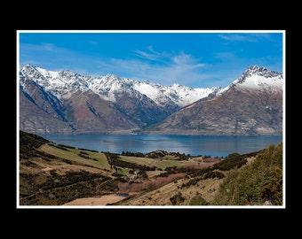 Mountain Lake print New Zealand photography fine art 12x8