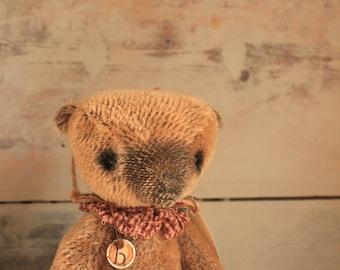 Rhett - Country Primitive Mohair Artist's Bear by Clare Davis-Tedd