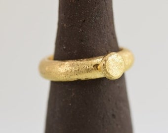 Ball Ring, Gold plated ring, Romantic Rings, Fashion Ring, Everyday jewelry, Unique ring, Designs rings, Flower ring, Woman ring, Gift, RG37