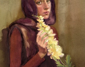 Custom Watercolor Portrait. Personalized Commission Portrait.  Portrait from Photo. Original Art. Custom Watercolor. Watercolor.