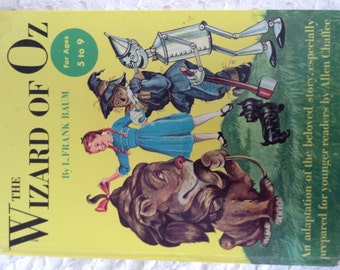 The Wizard of Oz vintage book by L. Frank Baum Adaptation by Allen Chaffee