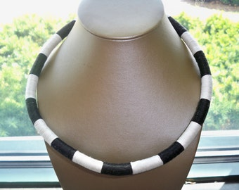 Black and White Rope Necklace