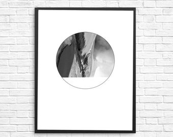 Circular Minimalist Art, Modern Wall Décor, Home and Office décor, Black and White Art