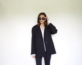 Vintage Women's black blazer | 100% wool | Size Medium | Made in Montreal