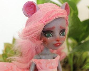 Custom art doll Monster High Mouscedes repaint