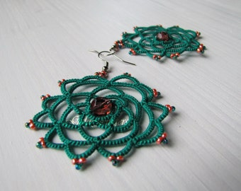DreamCatcher earrings rain forest
