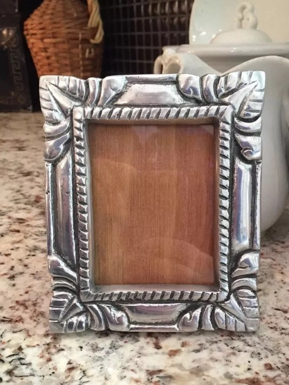 mexican pewter silver picture photo frame