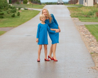 Mother daughter matching dress mommy and me outfits matching clothing mother daughter dress matching dresses a line long sleeve dress winter