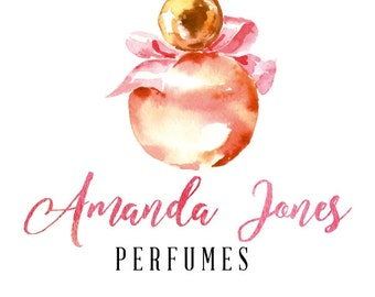 Premade Logo Design Perfumes Custom Cosmetics Watercolor Logo, Modern Logo Custom Business Card Branding Wedding Signs PL122