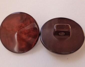10 dark brown buttons 18mm (3374) button Brown