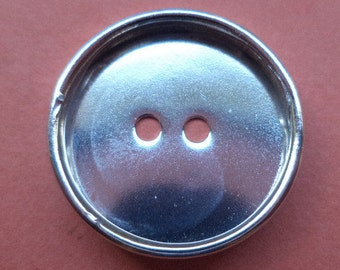 10 metal buttons silver 18 mm blanks (1091) button buttons metal