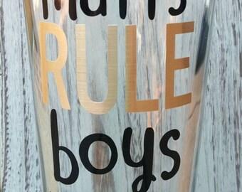Mutts RULE Boys Drool Glass