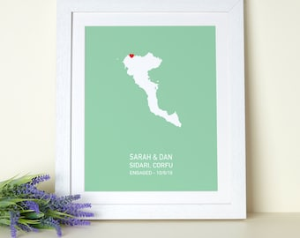 Greek Island Personalised Print