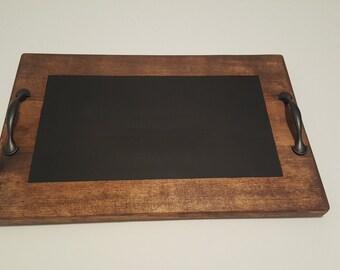 Small wood chalk cheese /wine tray