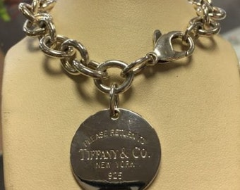 Exciting Return to Tiffany & Co. Sterling Silver Round Chain Link Bracelet