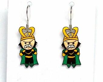 Loki inspired earrings