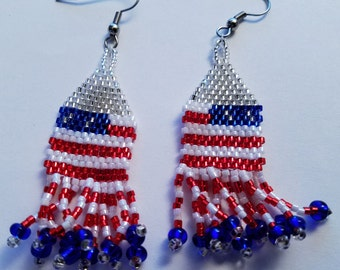July Fourth Earring