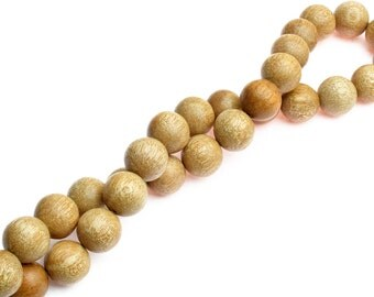 Round Maple Brown Wood Beads, (sw0002-1)