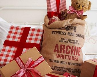 Santa Sack - Christmas sack - Personalised Santa Sack - Personalized Christmas Sack - Jute Sack - Jute Bag - Christmas stocking - Xmas sack