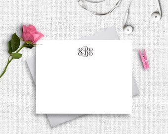 Monogram Note Card, Personalized Stationery, Personalized Stationary, Personalized Note Cards, Thank You Note Cards,  Custom Stationery MG02