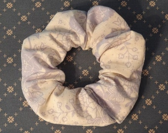 Purple Floral Scrunchie