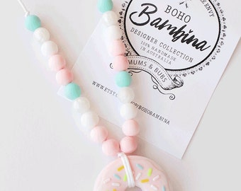SILICONE DONUT NECKLACE - Sugar Kisses Collection {Ltd Edition}
