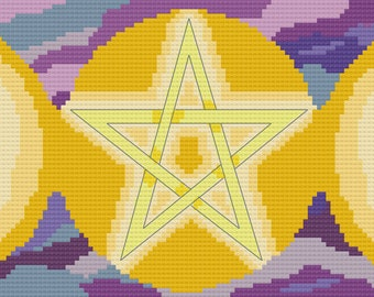 Cross Stitch Pattern - Triple Moon Goddess