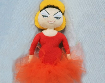 Divine Pink Flamingos Doll