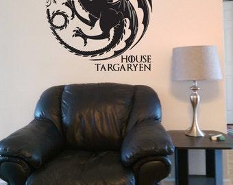 House Targaryen - Game of Thrones - Vinyl Wall Decal