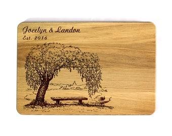 Engraved Cutting board Custom Wedding gift Wedding Family tree Personalized Wood Cutting Board Wedding Gift for couple Gift for family