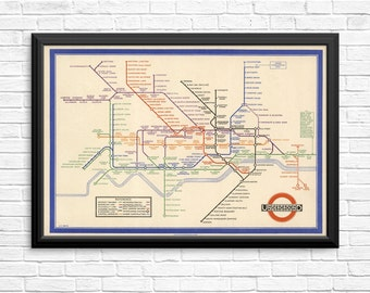 London Underground Map 1930's