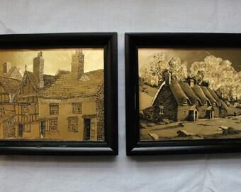 Gold Foil Framed Prints