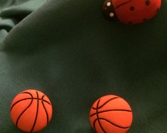 Cute Basketballs Sports Clog Shoe Charms