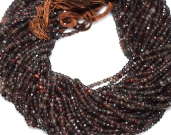 Natural Good Quality Spessartite Garnet Rondelle Beads 13 Inch Strand ,Spessartite Garnet Faceted Rondelle Beads , 4 mm - MC021