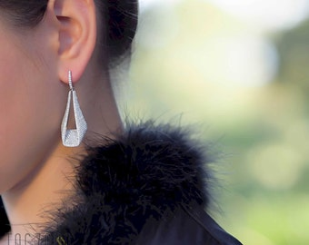 Evening Adventure Earrings | 925 Sterling Silver | Night Out Collection | CZ - Cubic Zirconia | Free gift Box | Free delivery AU and NZ