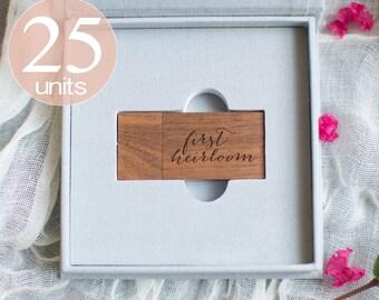 25 GRAY Linen USB boxes  (25 @ 12.74)